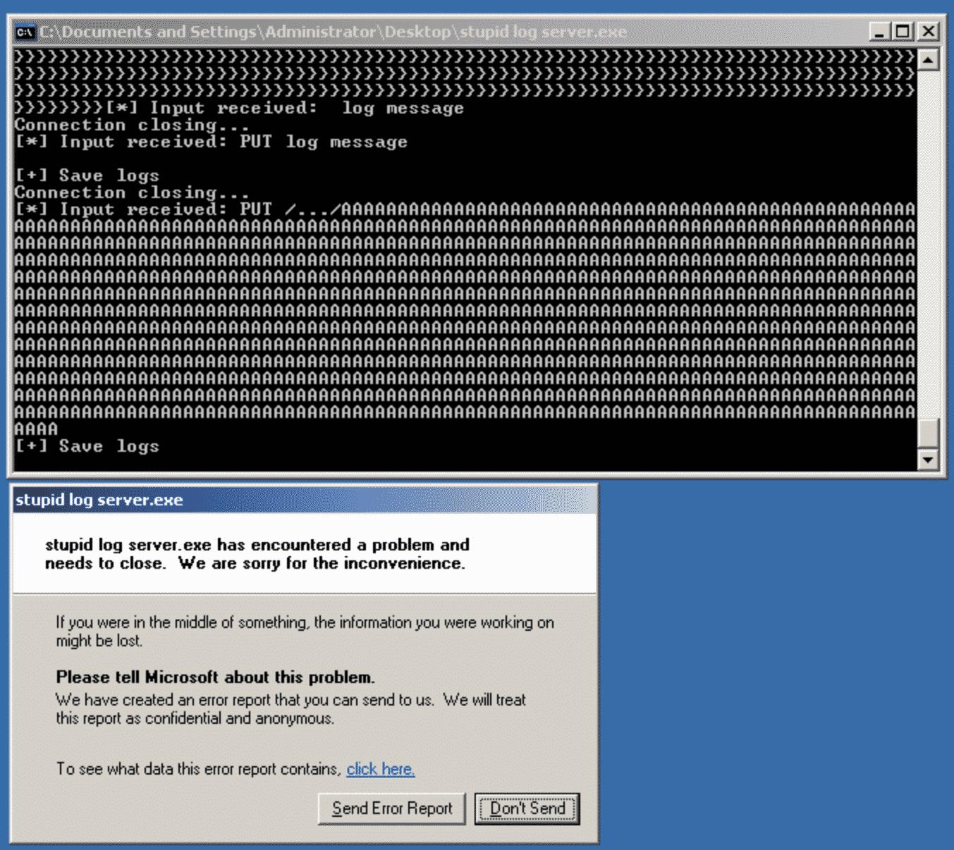 Stupid log server 0.1